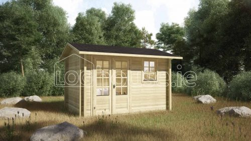 Arklow Log Cabin Exterior