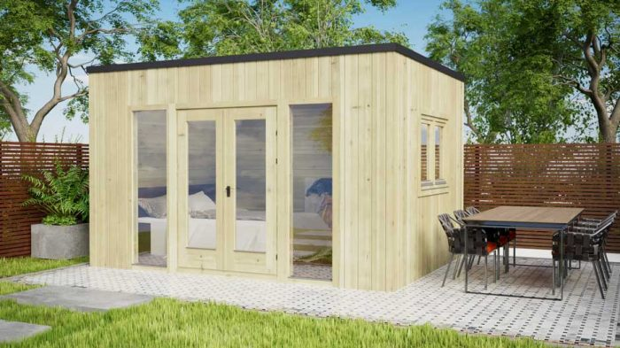 Ashford-Contemporary-4x3m log cabins exterior 2
