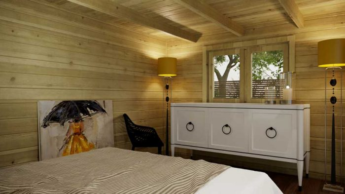 Ashford-Contemporary-4x3m log cabins interior 2