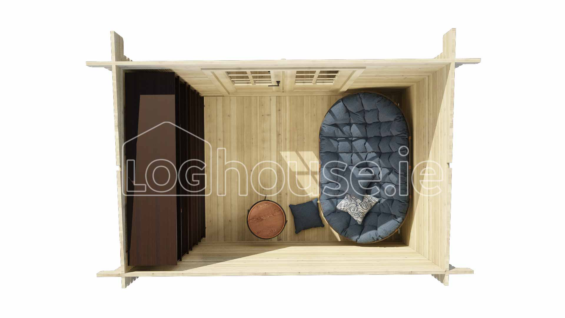 Athy Log Cabin 3m X 2m Loghouse Ie