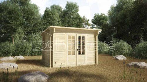 Athy Log Cabin Exterior