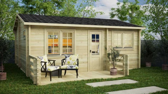 BUDGET-1-BED-B-Clontarf-Loghouse Log Cabin