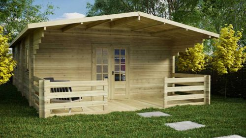 BUDGET-2 BED-A Loghouse Log Cabins
