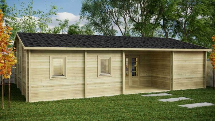BUDGET-3 BED-Kilcoole-Loghouse Log Cabins