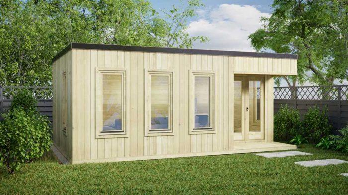 Kildare-contemporary log houses-6x4m log cabin