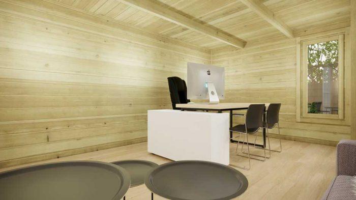 Kildare-contemporary log house-6x4m-interior