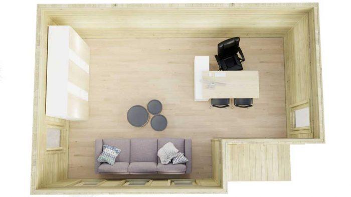 Kildare-contemporary log houses-6x4m-top