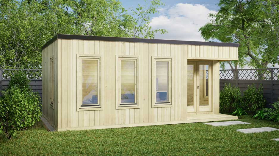 Kildare Contemporary Log Cabin 6m X 4m Loghouse Ie