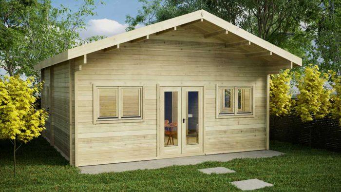 Loghouse - Loft-cabin-B Log Cabin Model