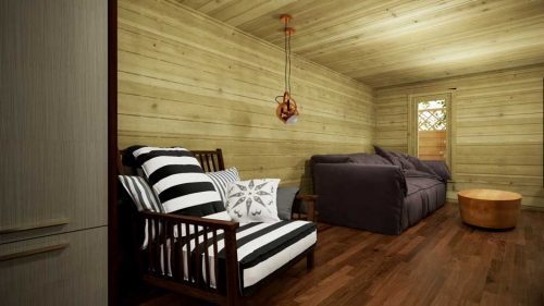 Sligo-Contemporary-log cabin-8x4m-interior