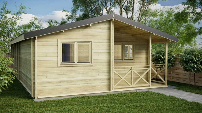 THREE-BED-TYPE-B Loghouse Log Cabin