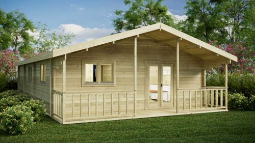 Three-Bed-Type-A Loghouse Log Cabin