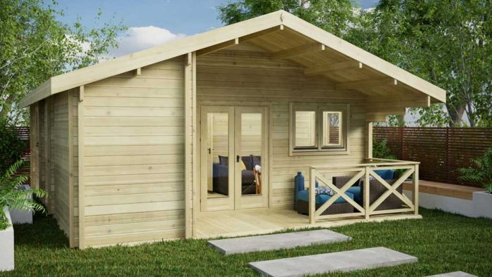 Two-Bed-Type-E Loghouse Log Cabins