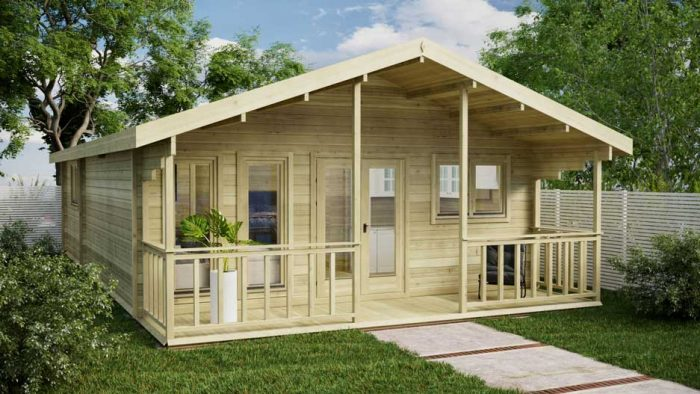 Two-Bed-Type-F Loghouse Log Cabins