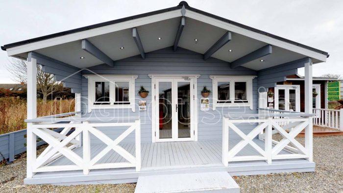 2 bedroom type c log cabin front exterior