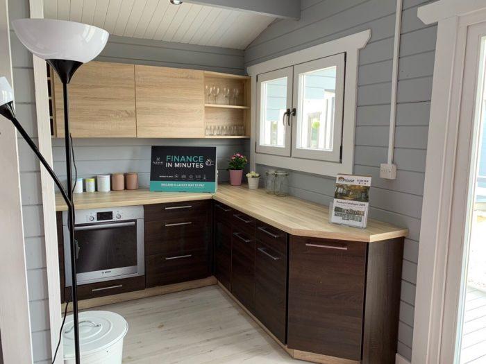 2 bedroom type c log cabin kitchen