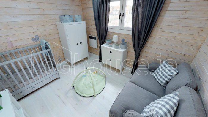 2 bedroom type c log cabin interior