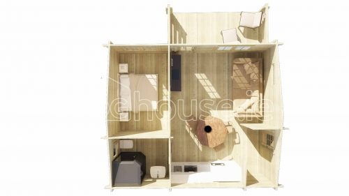 Clontarf Log Cabin Floor Plan residential