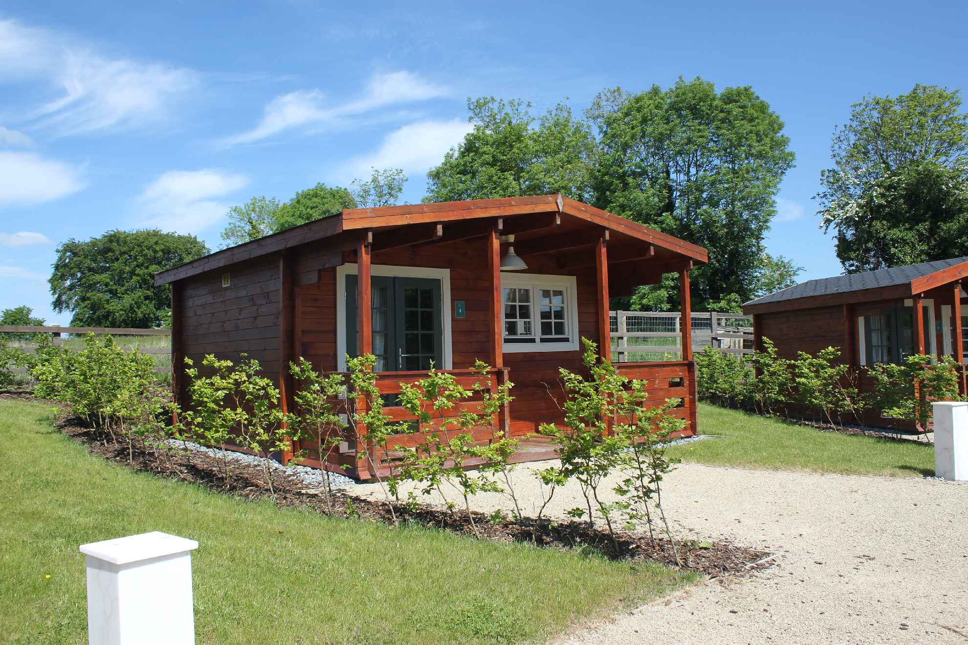 Glamping Log Cabins Outside Front 1