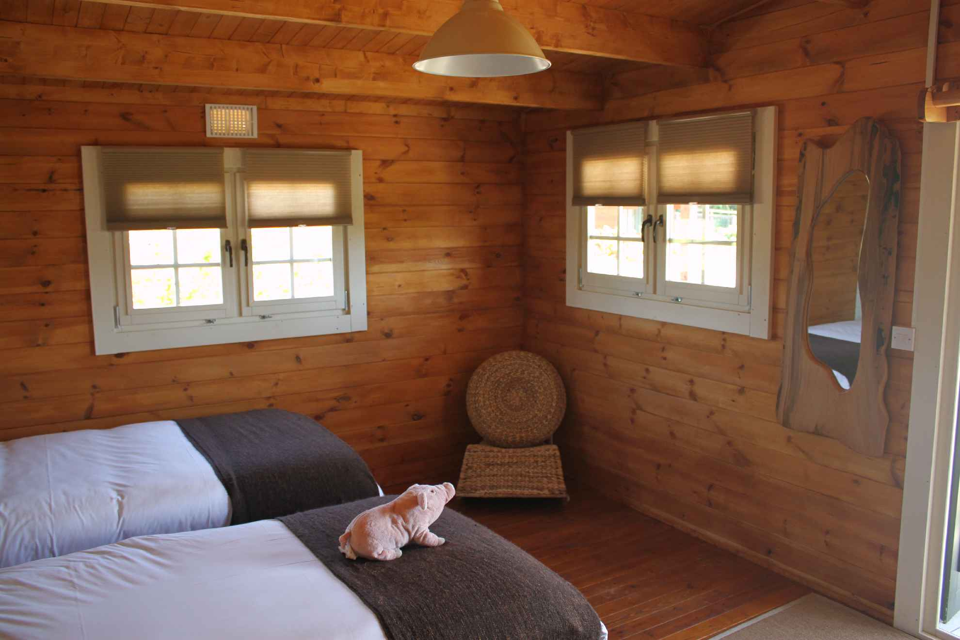 Glamping Log Cabins Bedroom 2