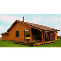 Log house laminated timber house 13
