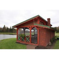 Log house laminated timber house 10