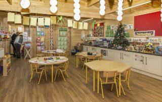 Pre-school Log Cabin Inside