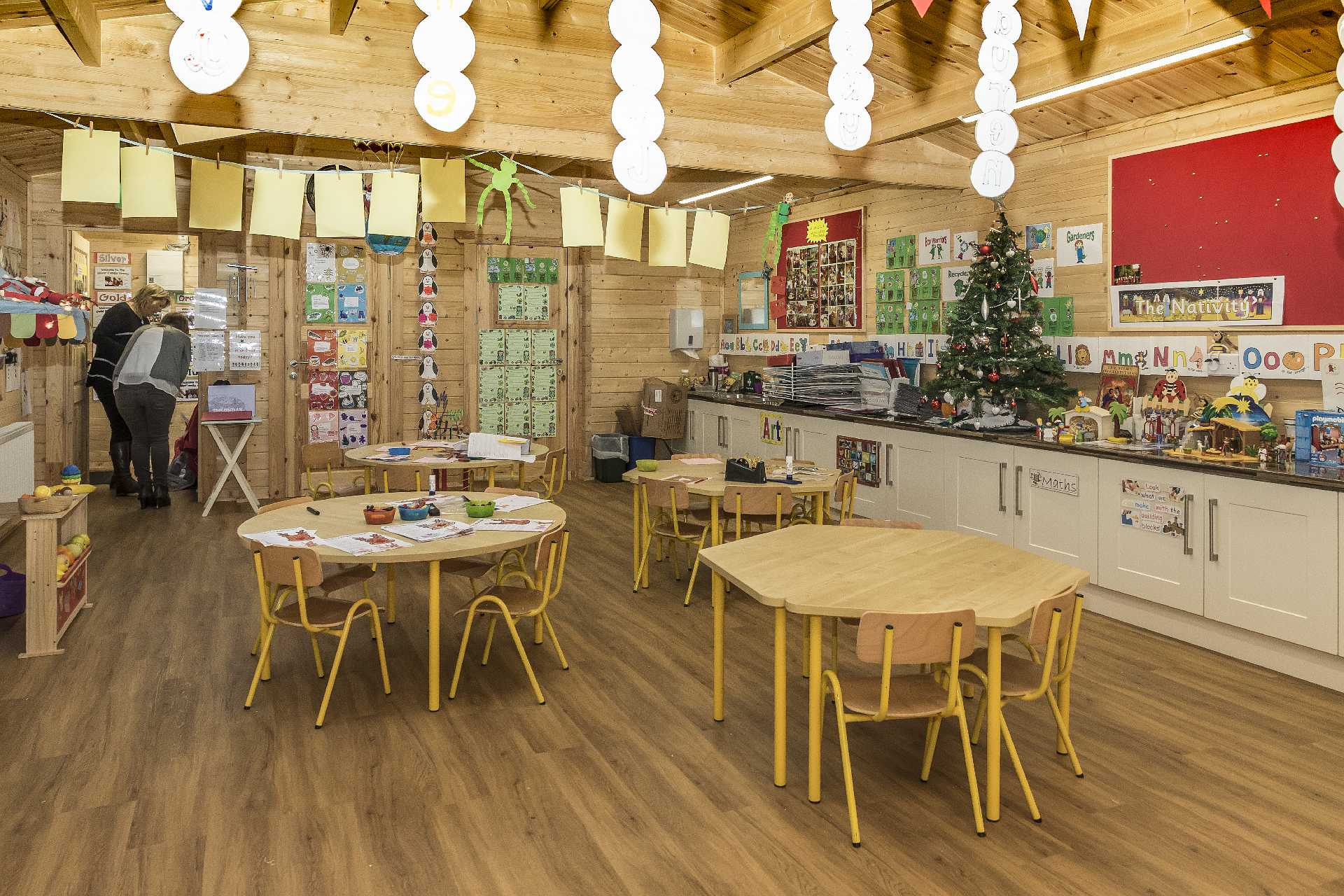 Pre-school Log Cabin Inside