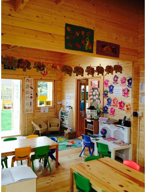 Beehive Pre-School Log Cabin Interior