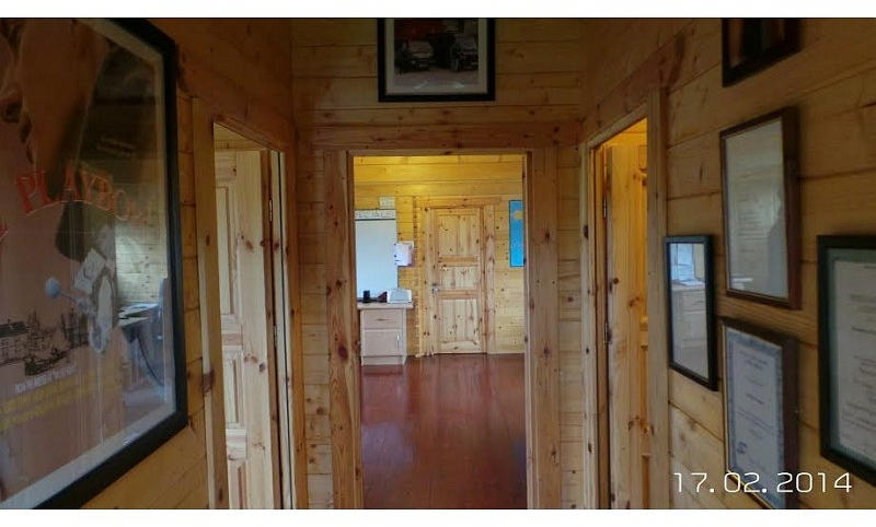 Commercial Log Cabin Office Inside Hall