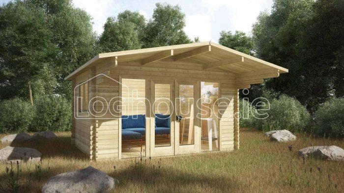 Cork Log Cabin Exterior