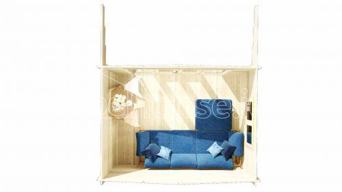 Cork Log Cabin Floor Plan