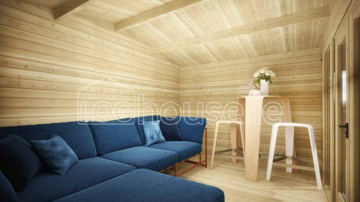 Cork Log Cabin Interior