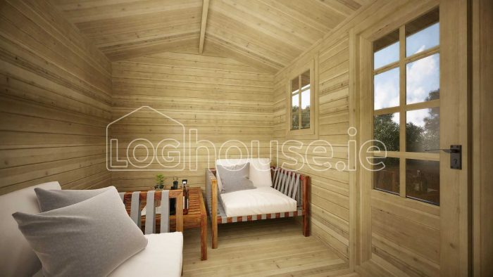 Arklow Log Cabin Interior