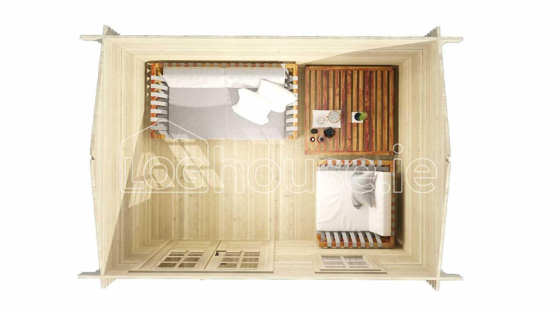 Arklow Log Cabin Floor Plan