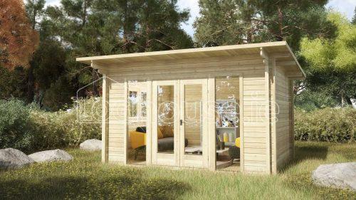 Ashford Log Cabin Exterior