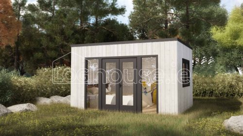 Ashford Contemporary Log Cabin Exterior