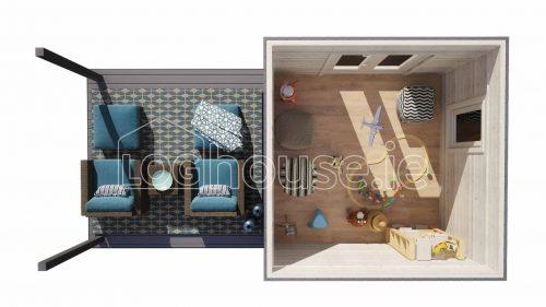 Carlow Contemporary Log Cabin Floor Plan