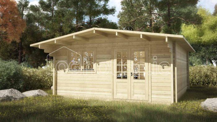 Dublin Log Cabin Exterior