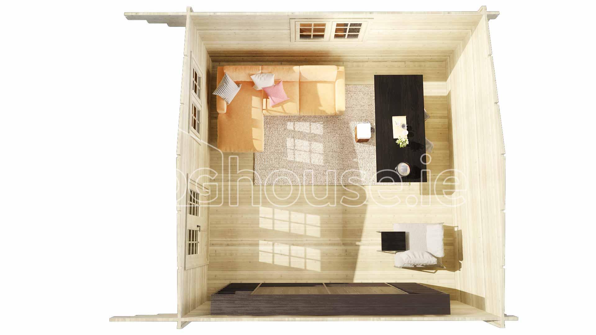 Dublin Log Cabin 6m X 4m Loghouse Ie