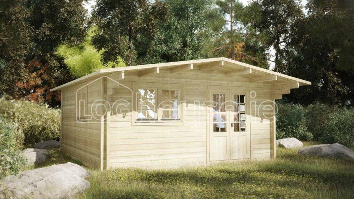 Dublin Log Cabin Exterior2