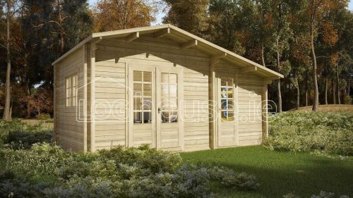 Dundrum Log Cabin Exterior