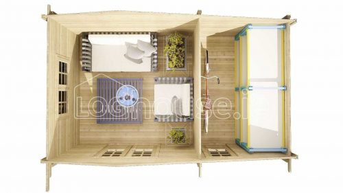Dundrum Log Cabin Floor Plan