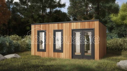 Fermanagh Contemporary Log Cabin Exterior