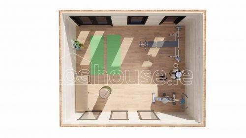 Fermanagh Contemporary Log Cabin Floor Plan