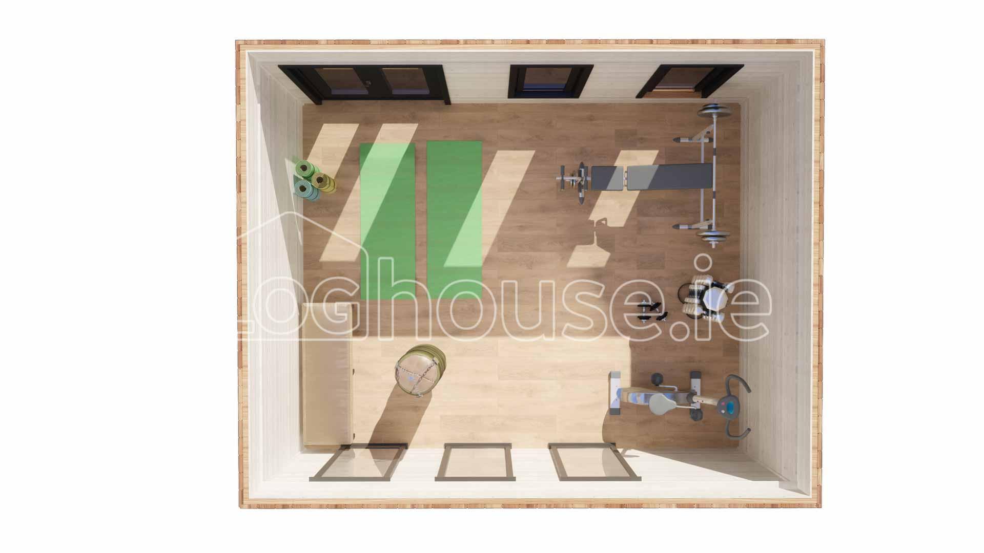 Clontarf Contemporary Log Cabin 5m X 4m Loghouse Ie