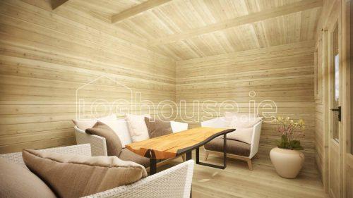 Greystones Log Cabin Interior