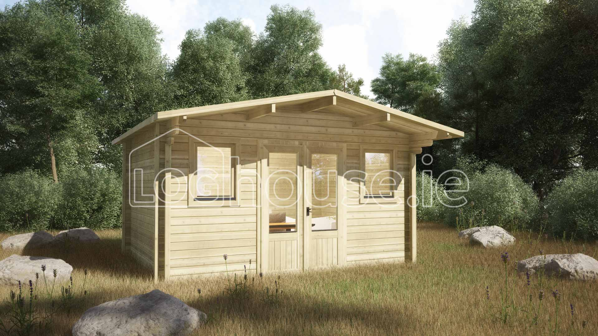 Greystones Log Cabin 4m X 4m Loghouse Ie