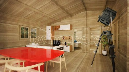 Kilcoole Log Cabin Interior