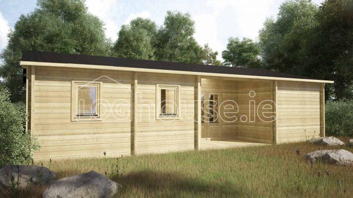 Kilcoole Log Cabin Exterior